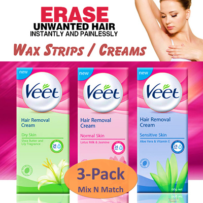[veet]❤️️SAVE $66! Bundle Deal❤️️ VEET Hair Removal Creams 200ml and Wax  Strips  Achieve silky smooth skin