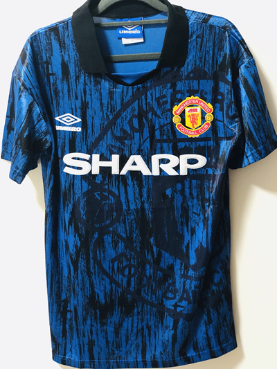 best sneakers 1c8e3 92d7e ⚽️ 92/93 Retro Manchester United Away Soccer Football Jersey