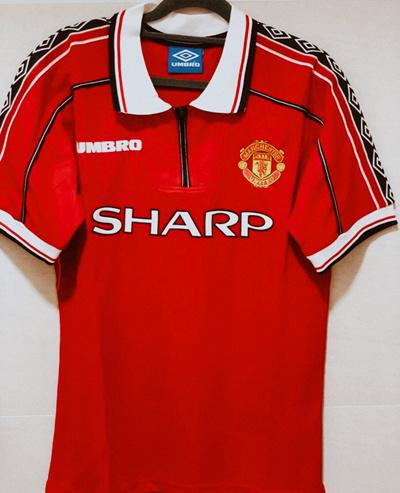 online store 11490 d9b14 [(Korea)]⚽️ 98/99 Retro Manchester United Soccer Football Jersey