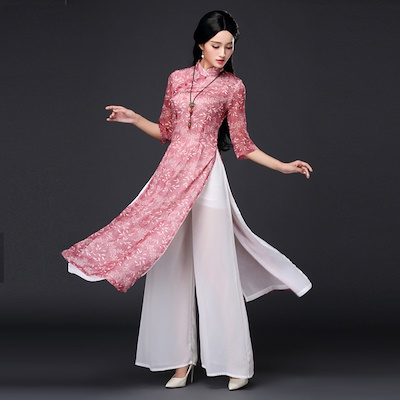 Qoo10 - 奥黛 China Qipao fresh cheongsam dress silk long ...
