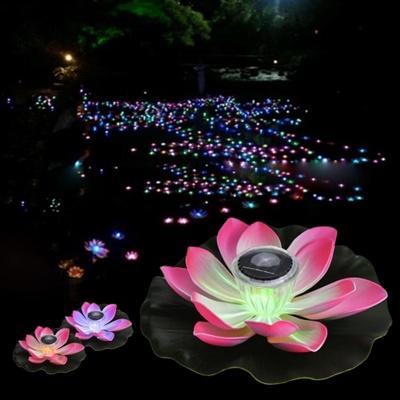 Qoo10 01w Solar Powered Multi Colored Led Lotus Flower Lamp Rgb