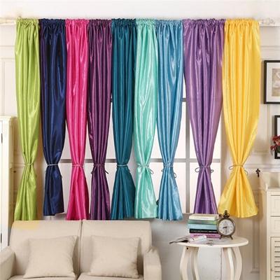 Qoo10 1 45m X 1 9m Satin Fabric Curtain Drape Panels Window Decor