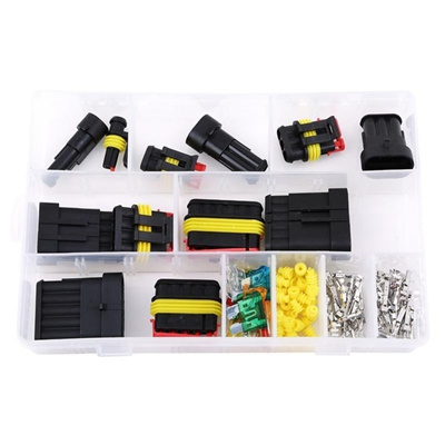 1-6Pin Way Cars Electrical Wire Waterproof Connector Plugs Fuse Case Kit Tool