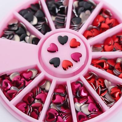 Qoo10 1 Box Mixed Color Heart Design 3d Nail Art Decoration Wheel
