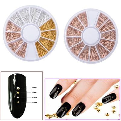 Qoo10 1 Box Steel Bead 3d Nail Decoration Diy Nail Art Accessories