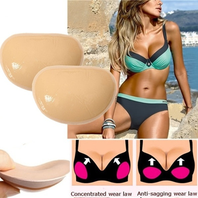 292f7524bf720 1 Pair Push Up Enhancers Pads Gel Bikini Bra Breast Chest Fillets Forms  Inserts
