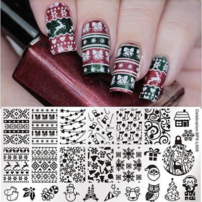 Qoo10 1 Pc Nail Art Stamping Plate 126cm Rectangle Nail Art Stamp