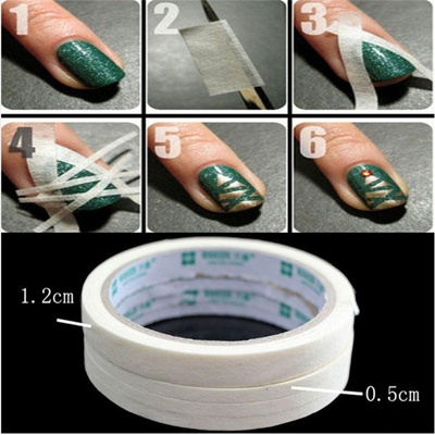 Qoo10 1 Roll Fashion Diy Nail Art Tool Tips Protect Masking Tapes