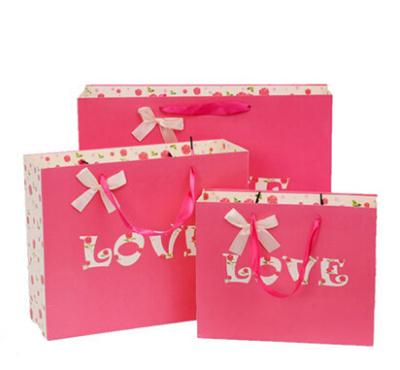 Qoo10 1 Set Of 5 Wedding Bag Rose Red Love Gift Bag Valentine