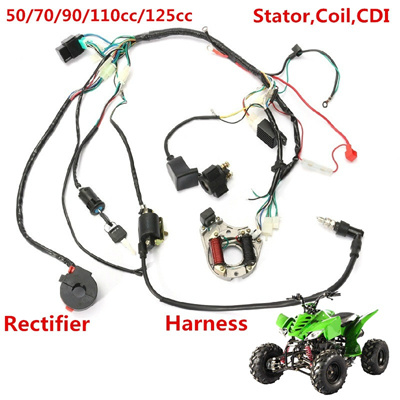 qoo10 - 1 set wire harness wiring cdi assembly for 50/70/90/110cc/125cc atv  q    : services
