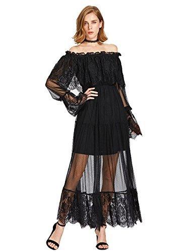 7794fded858 Qoo10 - ▷$1 Shop Coupon◁ Milumia Women s Bohemian Drawstring Waist Lace  Splic... : Women's Clothing