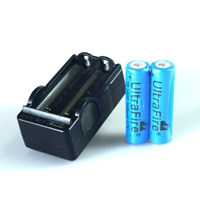 US Plug Flashlight Torch Rechargeable Charger Adapter For 18650 Li-ion Battery