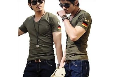 a6c4d7b9b29 Qoo10 - 10 colors available Men s cool army style t-shirts fashion short  sleev...   Women s Clothing
