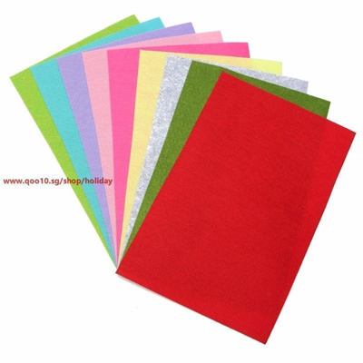 10 Colors Set Best Non Woven Felt Fabric Sheets Fiber Thick Kids Diy Craft Orted