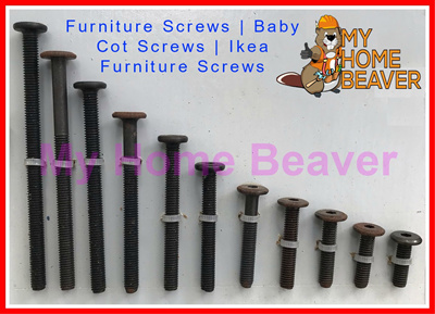 10 X M6 Black Bolts Wood Furniture S Baby Cot Ikea
