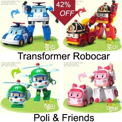 Qoo10 robocar transformer toys - Robot car polly ...