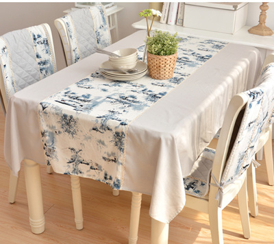 100% cotton table runner quality 中国风 Chinese ink painting table cloth/table cover & Qoo10 - table cover : Furniture \u0026 Deco