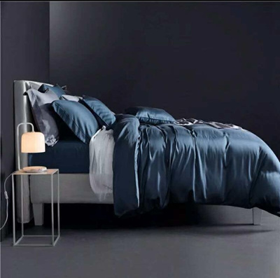 100% Silk Bed Sheet Set   Includes Quilt Cover + Bedsheet Cover + 2 Pillow