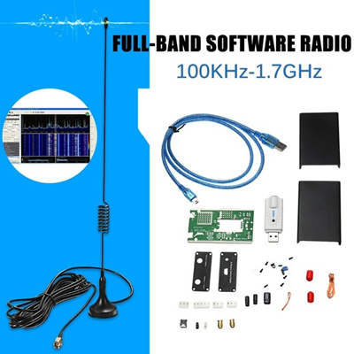 100KHz-1 7GHz Full-Band Receiver Software Radio HF FM AM RTL-SDR  Transceiver Kit