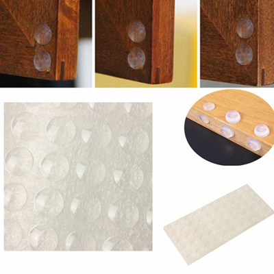100pcs Self Adhesive Silicone Feet Bumpers Stops Clear Cabinet Door Buffer  Pads