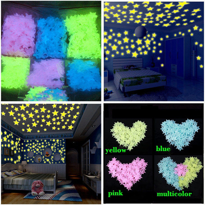 4b2fe41368 Qoo10 - 100pcs Wall Stickers Decal Glow In The Dark Baby Kids Bedroom Home  Dec...   Kids Fashion