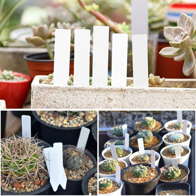 100pcs Waterproof Plastic Plant Labels Marker Nursery Garden Seed Pots Tags  Flower Thick Plant Tag L