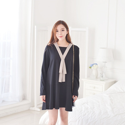 103855 Korea Woman Style Maternity Clothes Office Dress