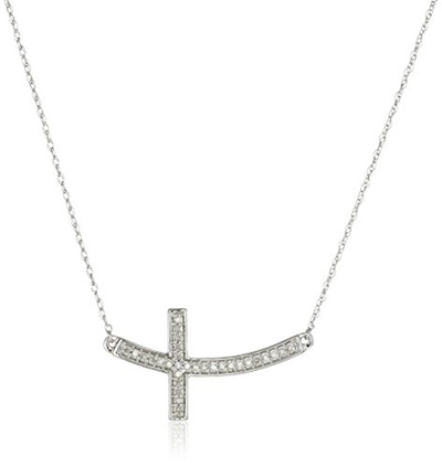 Qoo10 10k white gold diamond sideways cross pendant necklace 1 10k white gold diamond sideways cross pendant necklace 110cttw i j color mozeypictures Images