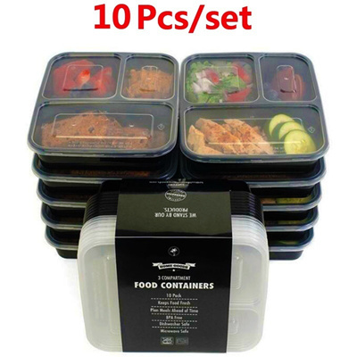 Qoo10 10pcs Compartment Food Fruit Storage Containers With Lids