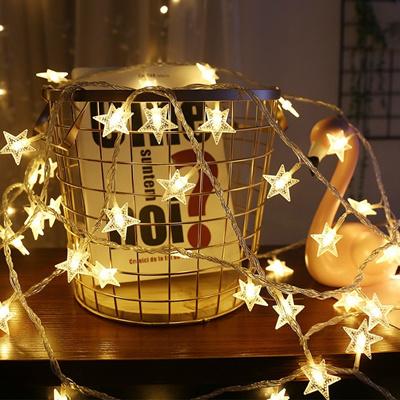 10pcs Led Lights Gold Star String Light