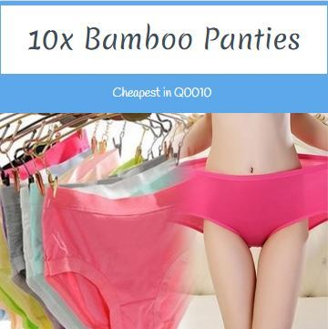 8f227a2d8 Qoo10 - 10x Super Stretchable Soft Bamboo Anti-odour Panties Underwear -  100% ...   Underwear   Sock.