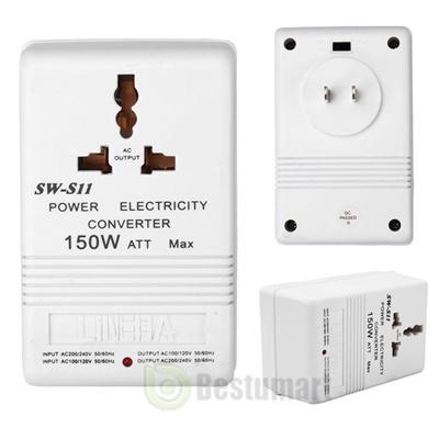110V to 220V Step-Up/&Down Voltage Converter 150W Watt Transformer Travel White