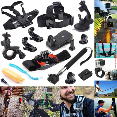 9cc7e46cacf Qoo10 - 12-in-1 Outdoor Sports Essentials Kit for GoPro Hero4 Silver Black  Her...   Sports Equipment