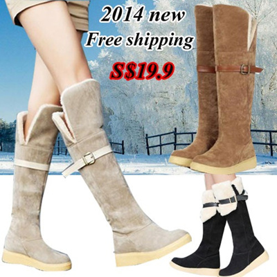 572071a650d [12 update][Free shipping]Sports shoes etc 2014 NEW Han edition Martin  boots student flat flat ugg boots knee-high boots winter boots female boots  ...