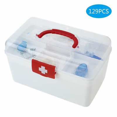 129PCS All Purpose First Aid Kits Box for Home Car Outdoor Family Emergency  Medicine Storage Box Org