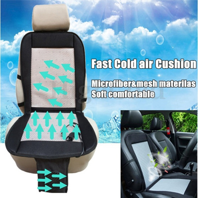12V Cooling Car Seat Cushion Cover With Air Ventilated Fan Conditioned Cooler Pad