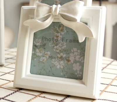 Qoo10 1414cm 4 Inch White Resin Square Picture Frame Vintage Bow