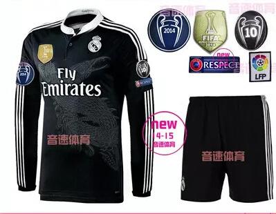 cf0ae126f Qoo10 - 14-15 Real Madrid away black long-sleeved shirt long-sleeved shirt  of ...   Sportswear