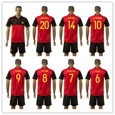 free shipping 63281 7bb8f 15 16 Belgium Jersey Kit Home Away VERMAELEN Kompany Lukaku danger Fellaini  National Team 2016 Belgi