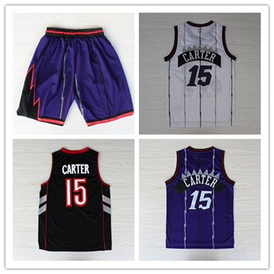 pretty nice 5a2b7 c0c38 #15 Vince Carter Jersey,Ordinary Basketball Jersey,Top quality,Embroidery  logos,Sport short,Size S--