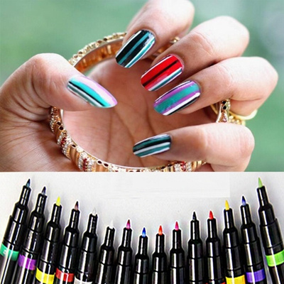 Qoo10 16 Candy Colors Diy Nail Art Pen Painting Design Tools