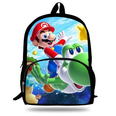 74e1bef4cc Qoo10 - 16-Inch Children Cartoon Backpack Super Mario School Book Bag For  Kids...   Kids Fashion