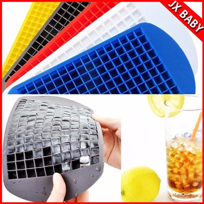 Qoo10 - 160 Ice Cubes Frozen Cube Bar Pudding Silicone Tray Mould Tool DIY : Kitchen & Dining