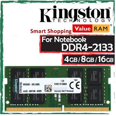 [Kingston Tech]16GB 8GB 4GB Kingston DDR4 RAM For Notebook Laptop Memory  Stick ValueRAM DDR4-2133 Limited Lifetime Warranty by Kingston for HP Dell