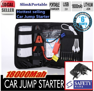Qoo10 18000mah emergency car jump starter jumpstart and also 18000mah emergency car jump starter jumpstart and also power bank battery as portable charger for fandeluxe Image collections
