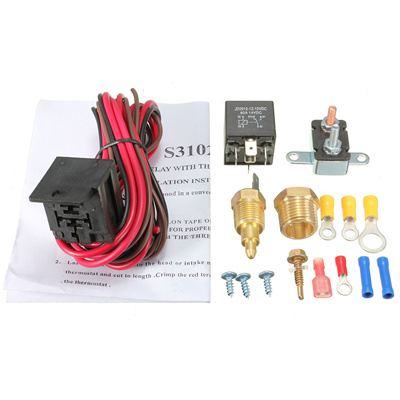 185-200 Degree Engine Cooling Fan Thermostat Temperature Switch Sensor on