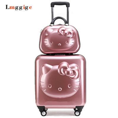 Qoo10 - Hello Kitty Suitcase   Bag   Wallet c4b73e81c303