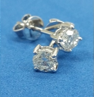 18k Gold 4 Claws Stud Diamond Earrings 100 Real South Africa Natural Diamonds