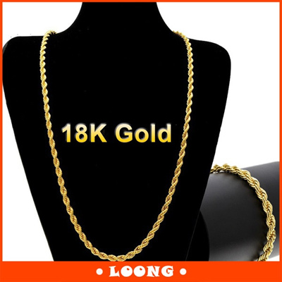 Qoo10 18k gold long chain necklace men jewelry brand gothic gold 18k gold long chain necklace men jewelry brand gothic gold color male necklace giftssize fandeluxe Choice Image
