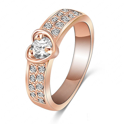 Qoo10 18k Gold Plated Platinum Plated Rings Crystal Wedding Ring